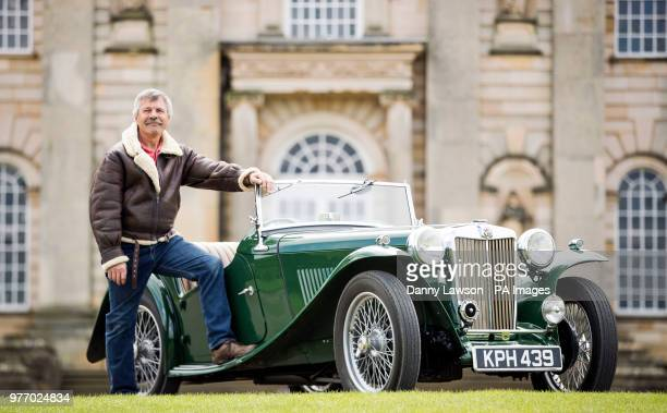 Chris Edwards with his 1946 MG TC during the Classic Car amp Motor Show at Castle Howard in Yorkshire