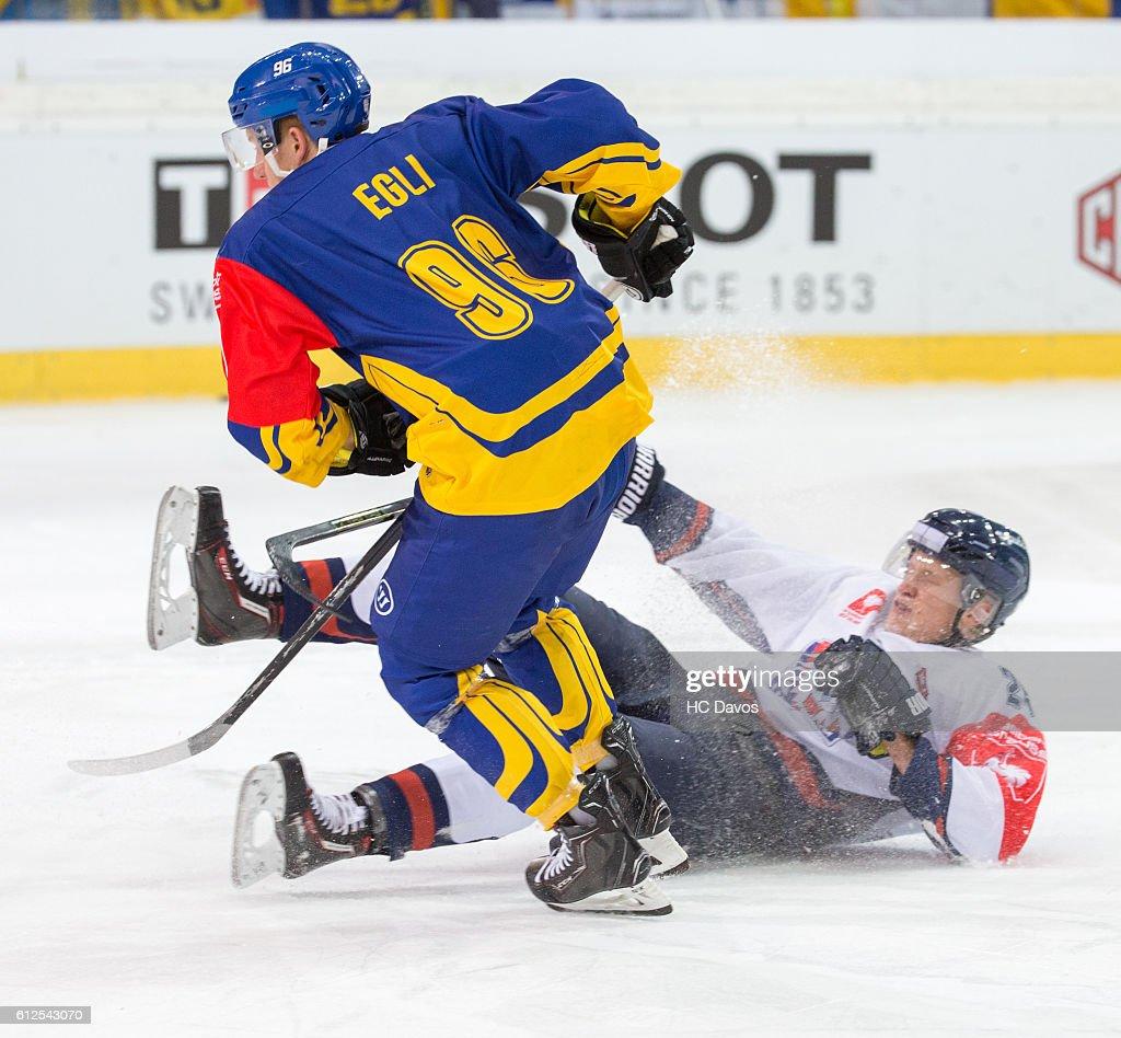 HC Davos v Linkoping HC - Champions Hockey League : Nachrichtenfoto
