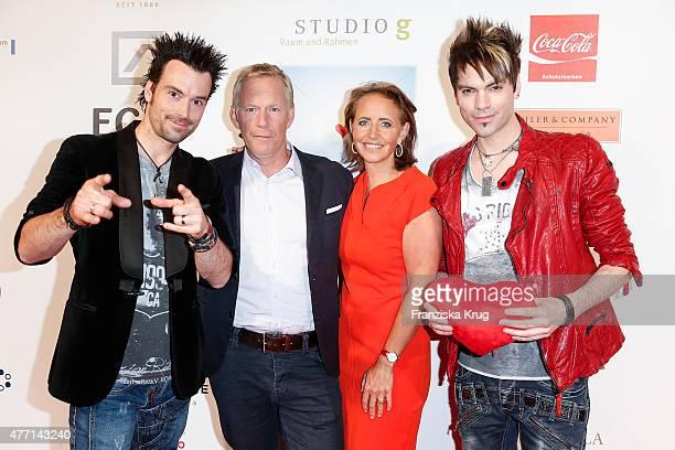 Chris Ehrlich Johannes B Kerner Jonica Jahr and Andreas Ehrlich attend the 'Das Herz im Zentrum' Charity Gala on June 14 2015 in Hamburg Germany