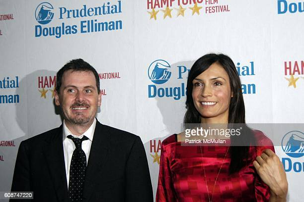 Chris Eigeman and Famke Jansen attend Arrivals TURN THE RIVER at Hamptons International Film Festival on October 19 2007 in United Artists Theatre...