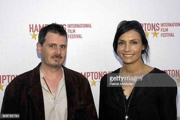 Chris Eigeman and Famke Janssen attend GOLDEN STAR FISH AWARDS HAMPTONS INTERNATIONAL FILM FESTIVAL at United Artists Theatres on October 21 2007 in...