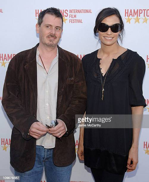 Chris Eigeman and Famke Janssen attend the Hamptons Film Festival The HIFF GSA Awards at the United Artists Theaters in East Hampton New York october...
