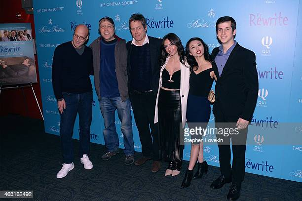 Chris Elliott Marc Lawrence Hugh Grant Emily Morden Annie Q and Steven Kaplan attend The Cinema Society And Brooks Brothers Host A Screening Of 'The...