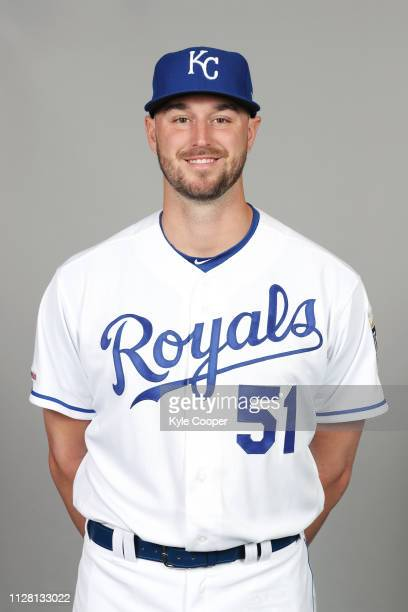 Chris Ellis of the Kansas City Royals poses during Photo Day on Thursday February 21 2019 at Surprise Stadium in Surprise Arizona