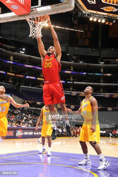 Chris Ellis of the Tulsa 66ers dunks during the game against the Los Angeles DFenders at Staples Center on December 7 2008 in Los Angeles California...