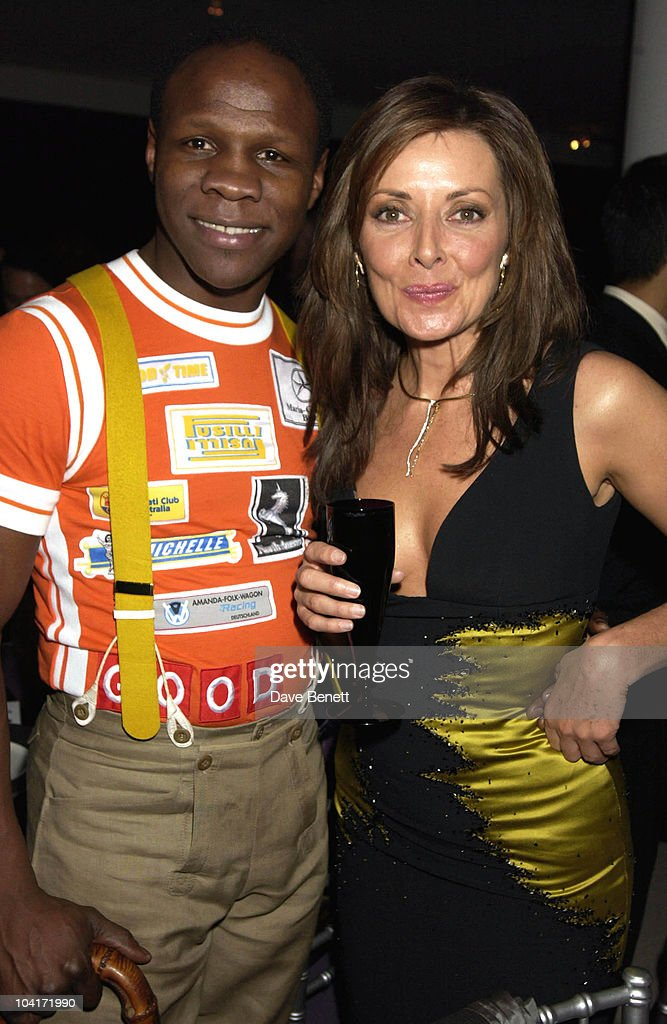 Chris Eubank And Carol Vorderman, The Grand Prix Ball At The Royal Albert Hall And He After Party At The Royal College Of Art, Celebraties Joined Motor Racing People To Help Raise Money For Doctor Sid Watkins Charity The Brain And Spine Foundation