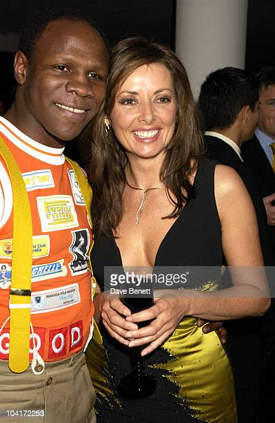 Chris Eubank And Carol Vorderman The Grand Prix Ball At The Royal Albert Hall And He After Party At The Royal College Of Art Celebraties Joined Motor...