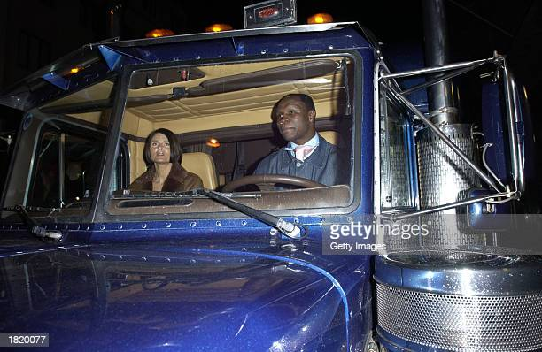 Chris Eubank and his wife leave the Sketch night club February 27 2003 in London England