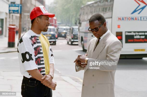 Chris Eubank and Michael Watson in London to promote their WBO middleweight title clash Eubanks won by majority decision over 12 rounds 22nd May 1991