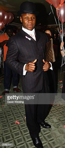 Chris Eubank arrives at The Pink Ribbon Ball in aid of Breast Cancer at The Dorchester Hotel October 11 2003 in London