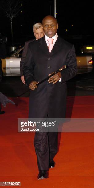 Chris Eubank during 2005 BBC Sports Personality of the Year at BBC Television Centre in London Great Britain