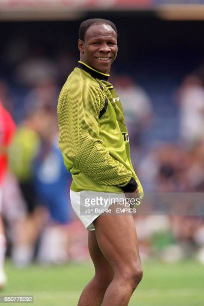 Chris Eubank goalkeeper for Ant and Dec's team