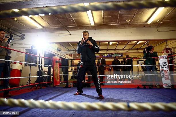 Chris Eubank Jnr during a media workout at Cheetahs Gym on October 21 2015 in Brighton England