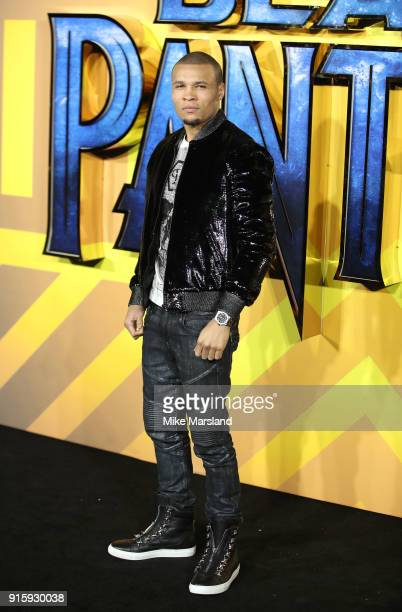 Chris Eubank Jr attends the European Premiere of 'Black Panther' at Eventim Apollo on February 8 2018 in London England