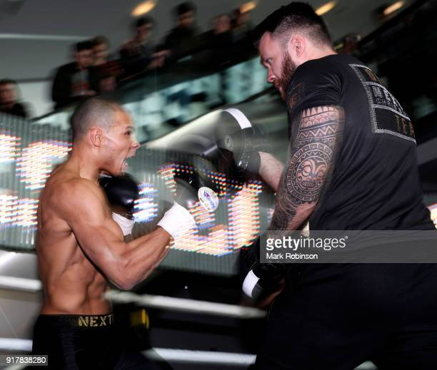 Chris Eubank Jr during a public work out at National Football Museum on February 13 2018 in Manchester England