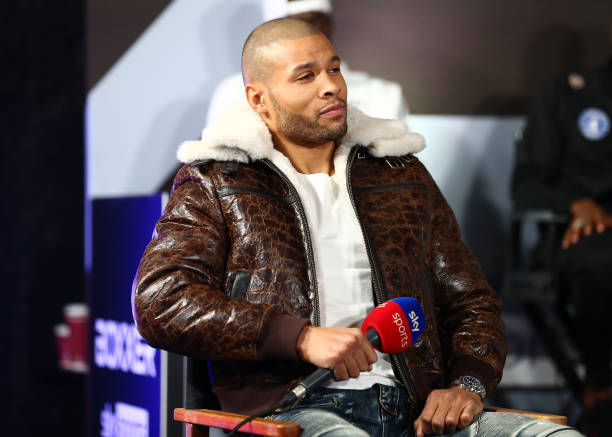 Chris Eubank Jr during their media day ahead of the middleweight fight between Chris Eubank Jr and Anatoli Muratov at Troubadour Wembley Park Theatre...