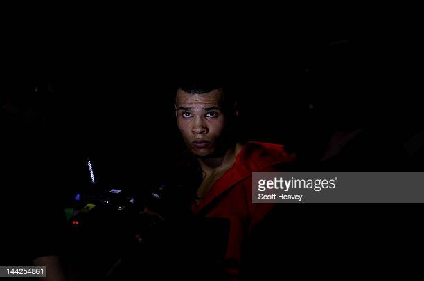 Chris Eubank Junior enters the ring prior to his Middleweight bout with Harry Matthews at Hillsborough Leisure Centre on May 12 2012 in Sheffield...