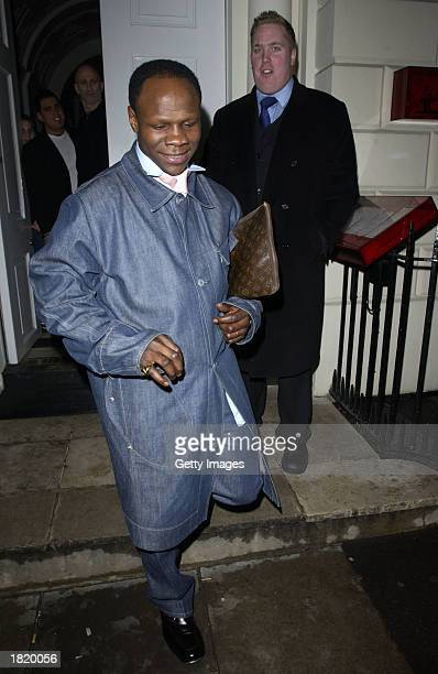 Chris Eubank poses outside of the Sketch night club February 27 2003 in London England