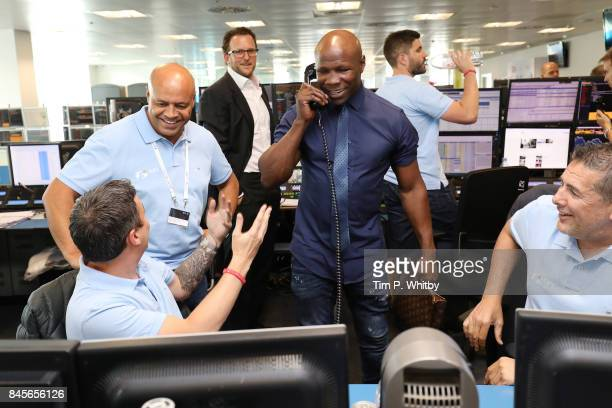 Chris Eubank representing Children with CancerÊmakes a trade at GFI Charity Day 2017 on September 11 2017 in London England