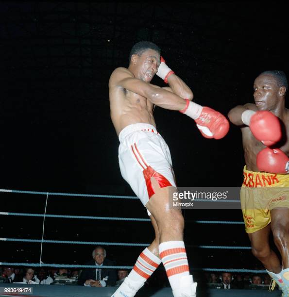 Chris Eubank vs Michael Watson for the WBO middleweight title at Earls Court Exhibition Centre, London, England. Eubanks won by majority decision...