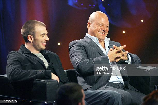 Chris Evan and Michael Chiklis during Take 40com 'Fantastic Four Rise of the Silver Surfer' May 2 2007 at Entertainment Quarter in Sydney NSW...