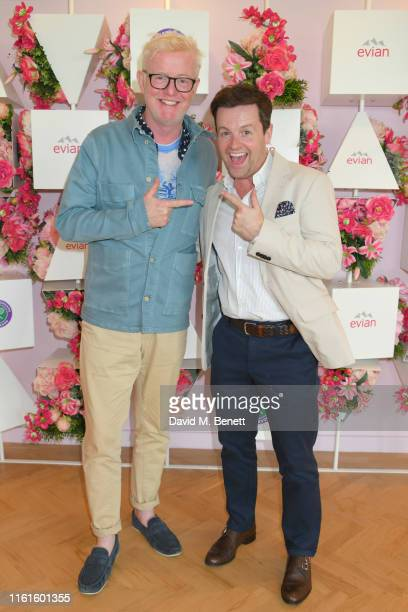 Chris Evans and Declan Donnelly at the evian Live Young suite at The Championships Wimbledon 2019 on July 12 2019 in London England