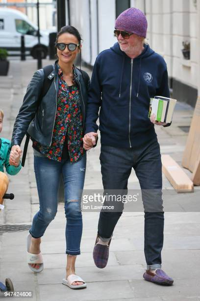 Chris Evans and his wife Natasha Shishmanian seen leaving BBC Radio 2 after announcing they are expecting twins, sighting on April 17, 2018 in...