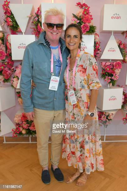 Chris Evans and Natasha Shishmanian at the evian Live Young suite at The Championships, Wimbledon 2019 on July 12, 2019 in London, England.