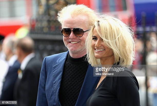 Chris Evans and Natasha Shishmanian attend a memorial service for the late Sir Terry Wogan at Westminster Abbey on September 27, 2016 in London,...