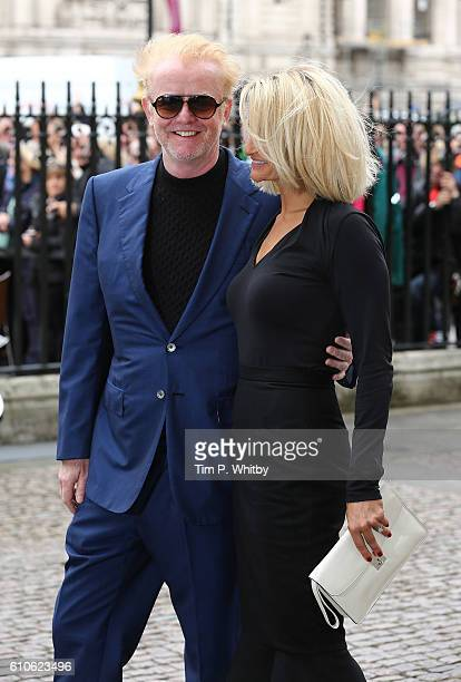 Chris Evans and Natasha Shishmanian attend a memorial service for the late Sir Terry Wogan at Westminster Abbey on September 27 2016 in London England