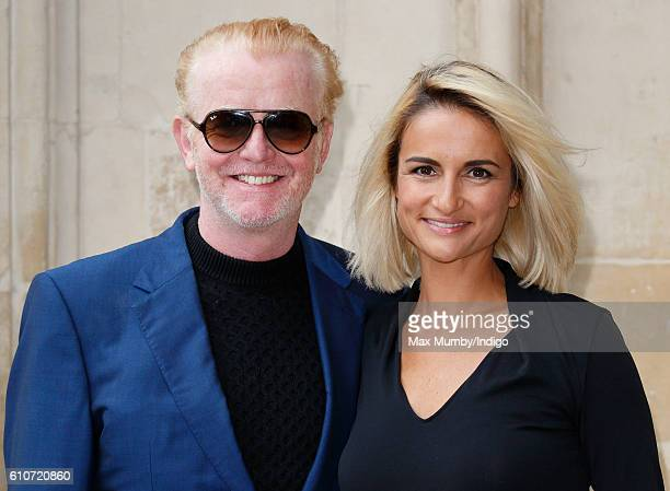 Chris Evans and Natasha Shishmanian attend a memorial service for the late Sir Terry Wogan at Westminster Abbey on September 27 2016 in London...