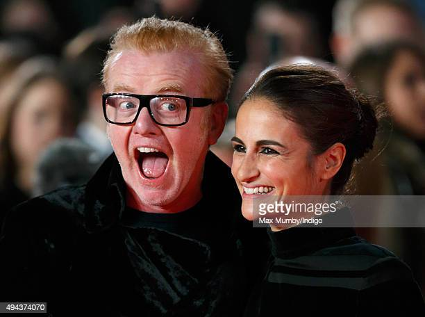 Chris Evans and Natasha Shishmanian attend the Royal Film Performance of 'Spectre' at The Royal Albert Hall on October 26, 2015 in London, England.