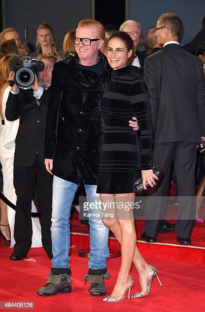 Chris Evans and Natasha Shishmanian attend the Royal Film Performance of Spectre at the Royal Albert Hall on October 26 2015 in London England