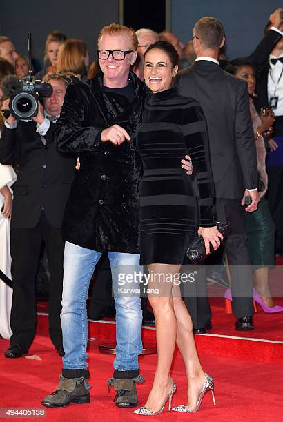 """Chris Evans and Natasha Shishmanian attend the Royal Film Performance of """"Spectre"""" at the Royal Albert Hall on October 26, 2015 in London, England."""
