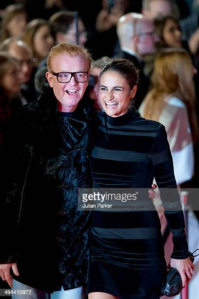 Chris Evans and Natasha Shishmanian attend the Royal Film Performance of 'Spectre' at The Royal Albert Hall on October 26 2015 in London England