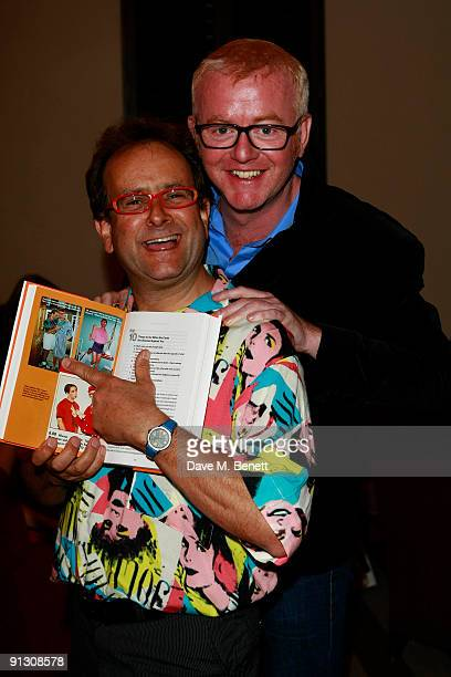 Chris Evans and Timmy Mallett attends Chris Evans book launch party held at the Groucho Club Soho on October 1 2009 in London England