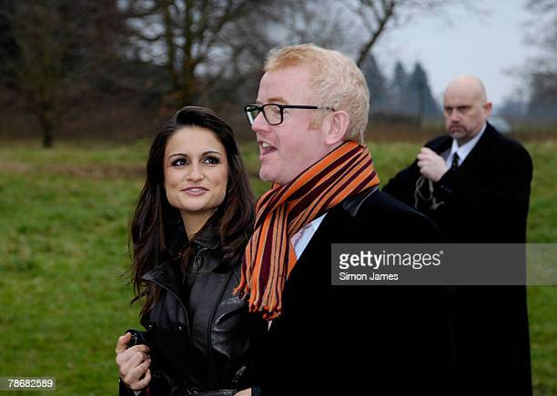 Chris Evans and wife Natasha Shishmanian arrive at the wedding of Billie Piper and Laurence Fox at the parish Church of St Mary on December 31, 2007...