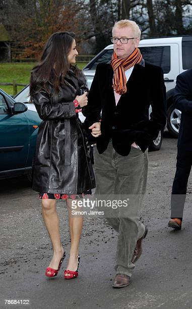 Chris Evans and wife Natasha Shishmanian arrive at the wedding of Billie Piper and Laurence Fox at the parish Church of St Mary on December 31 2007...