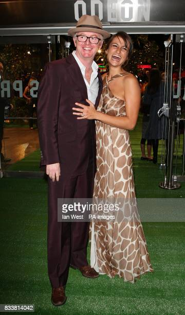 Chris Evans and wife Natasha Shishmanian arrive for the European Premiere of Stardust at the Odeon Leicester Square London WC2