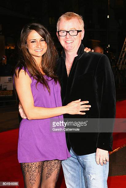 Chris Evans and wife Natasha Shishmanian attend the premiere of 'Shine A Light' at the Odeon Leicester Square on April 2 2008 in London England