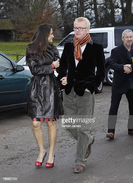 Chris Evans and wife Natasha Shishmanian attend the wedding of Billie Piper and Laurence Fox at the Parish Church Of St. Mary's on December 31, 2007...