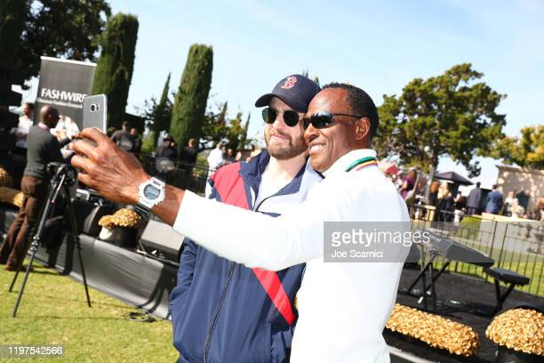 Chris Evans and Willie Gault attend GOLD MEETS GOLDEN 2020, presented by Coca-Cola, BMW Beverly Hills And FASHWIRE, and hosted by Nicole Kidman and...