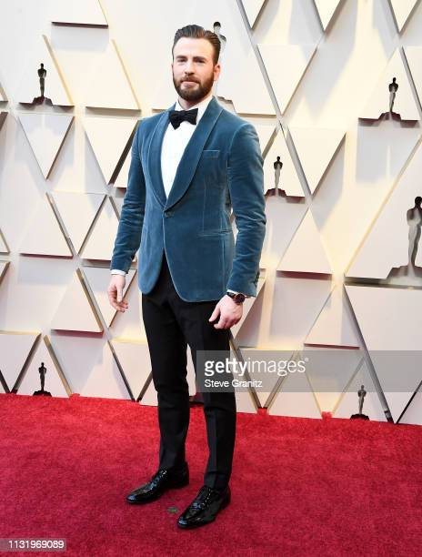 Chris Evans arrives at the 91st Annual Academy Awards at Hollywood and Highland on February 24 2019 in Hollywood California