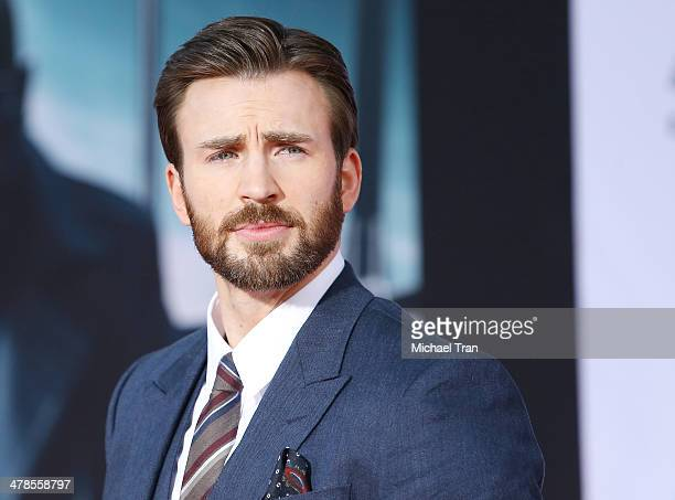 "Chris Evans arrives at the Los Angeles premiere of ""Captain America: The Winter Soldier"" held at the El Capitan Theatre on March 13, 2014 in..."