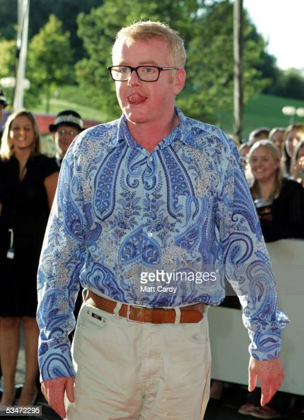Chris Evans arrives at the red carpet Gala Dinner as part of The AllStar Cup Celebrity Golf event at the Celtic Manor Resort on August 27 2005...