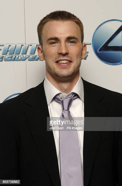 Chris Evans arrives for the Fantastic Four Rise of the Silver Surfer premiere at the Vue West End in central London