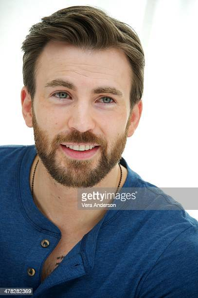 """Chris Evans at the """"Captain America: The Winter Soldier"""" Press Conference at the Four Seasons Hotel on March 11, 2014 in Beverly Hills City."""