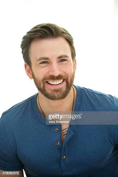 "Chris Evans at the ""Captain America: The Winter Soldier"" Press Conference at the Four Seasons Hotel on March 11, 2014 in Beverly Hills City."