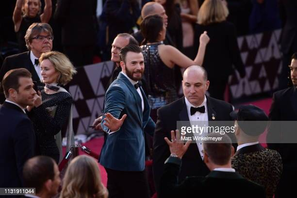 Chris Evans attends the 91st Annual Academy Awards at Hollywood and Highland on February 24 2019 in Hollywood California