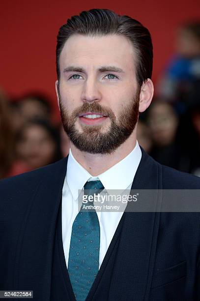Chris Evans attends the European premiere of 'Captain America Civil War' at Vue Westfield on April 26 2016 in London England